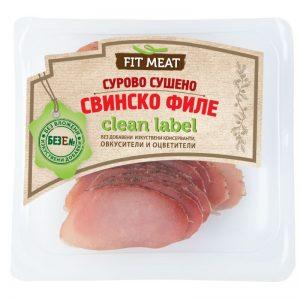 FIT MEAT СУРОВО СУШЕНО СВИНСКО ФИЛЕ СЛАЙС Е 100 ГР